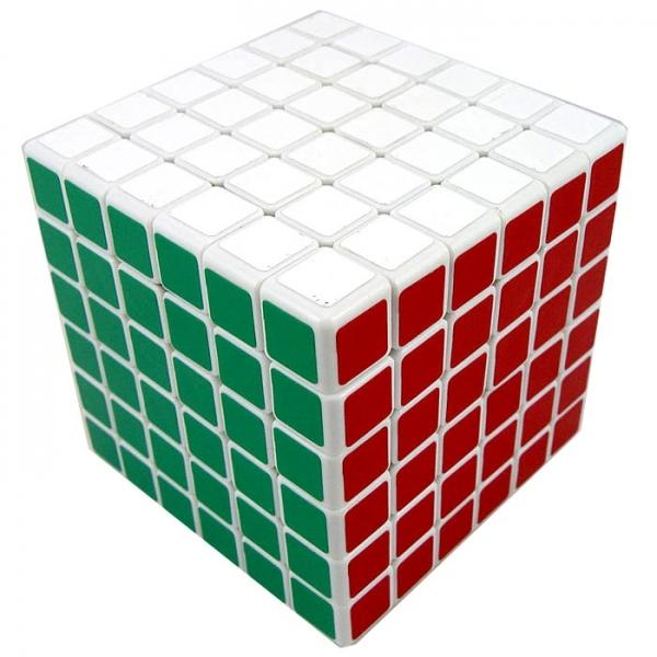 кубик 6х6х6 ShengShou белый пластик