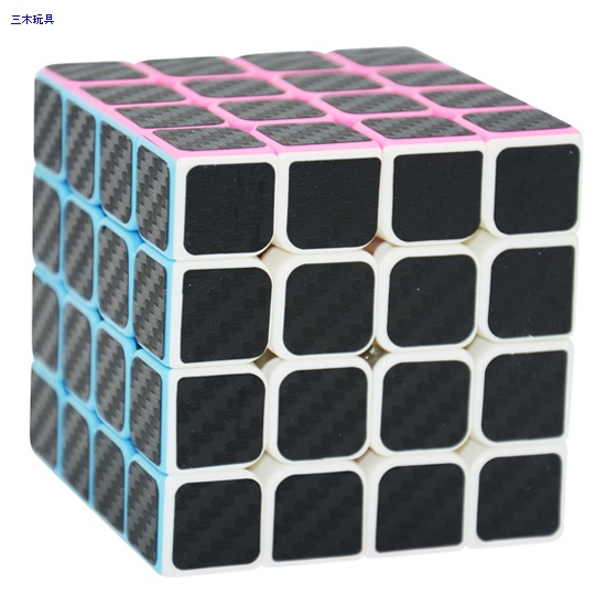 4x4x4 Cube Style Weiting with black carbon