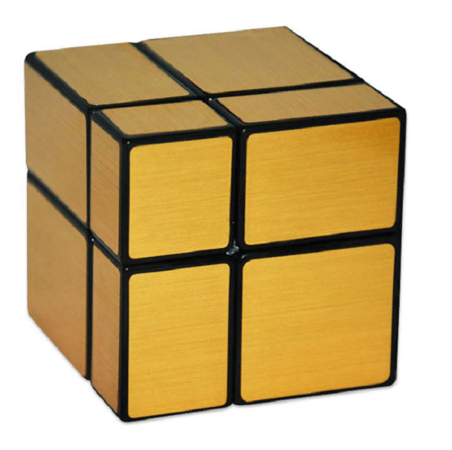 Cube Style Mirror Blocks 2x2x2 golden