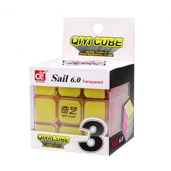 3x3x3 OiYi Qiyi Sail 6cm transparent body