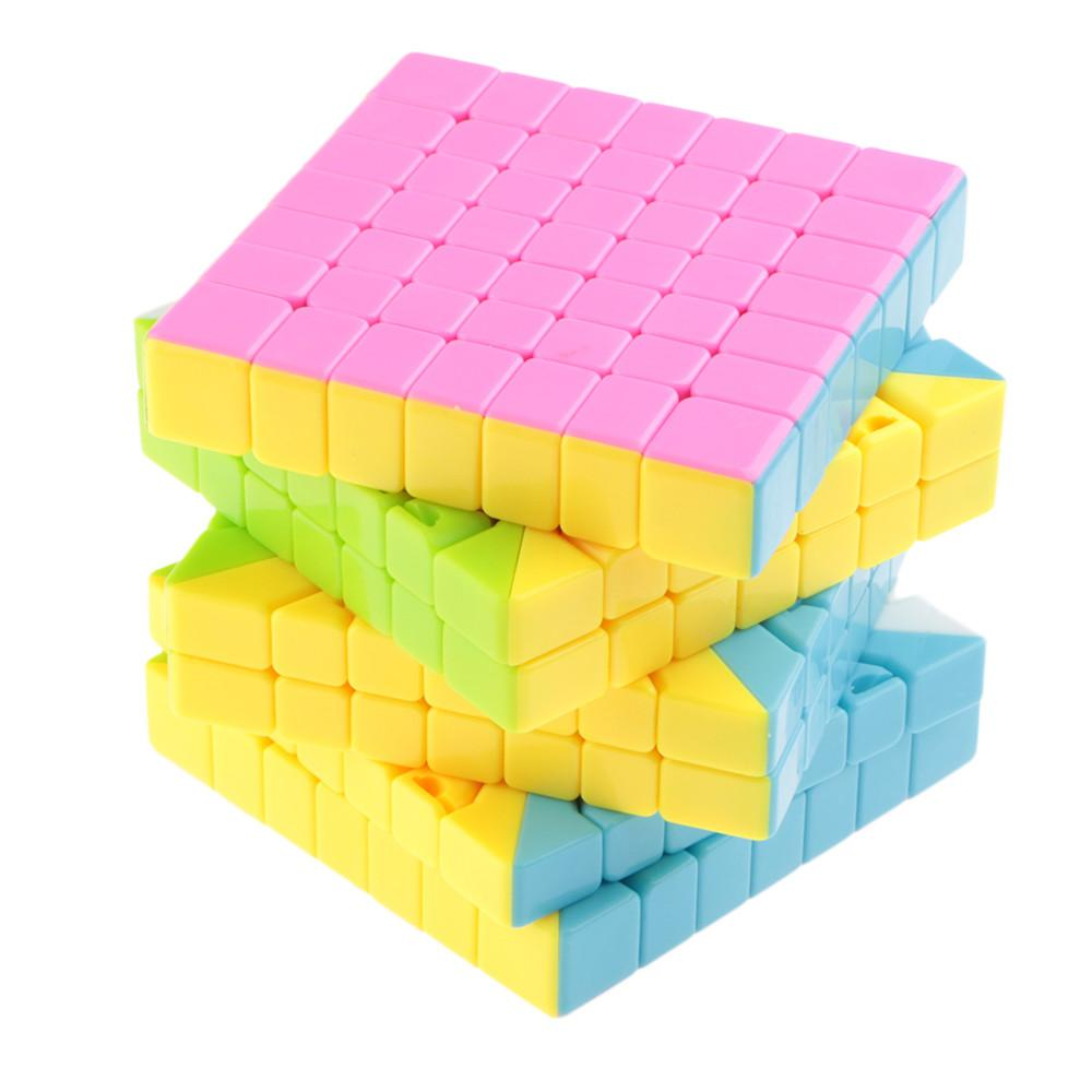 7X7x7 Lefun magic cube candy color