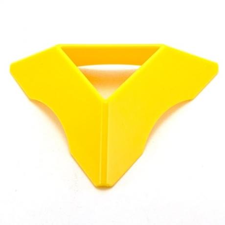 Подставка для кубика желтая