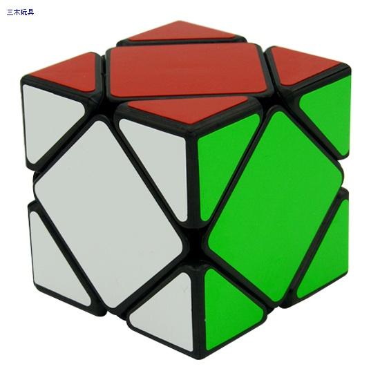 Cube Style Skewb cube black