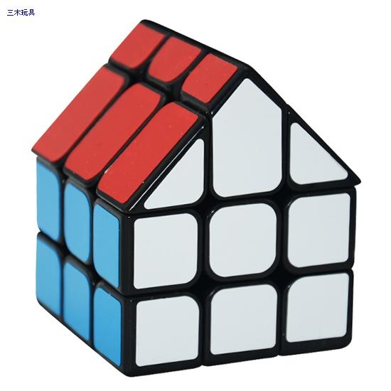 Cube Style Bermuda house I black without chimney