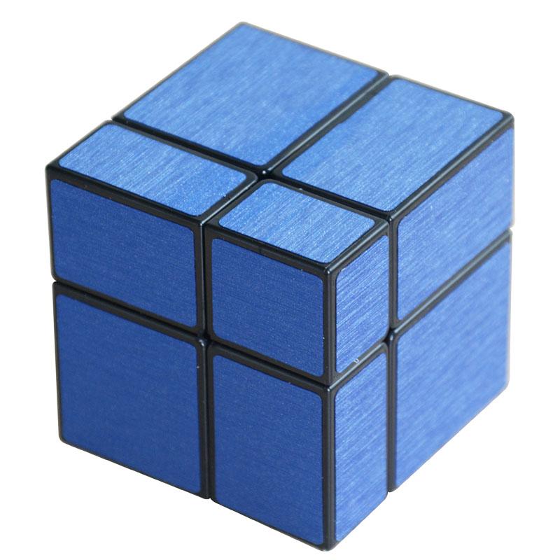 Cube Style Mirror Blocks 2x2x2 blue
