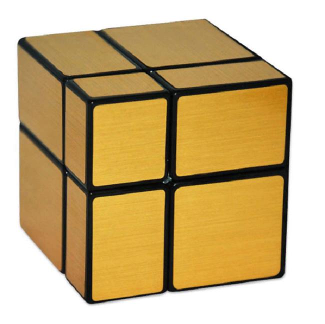 Cube Style Mirror Blocks 2x2x2 golden