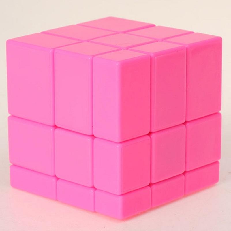 Зеркальный куб цвет розовый