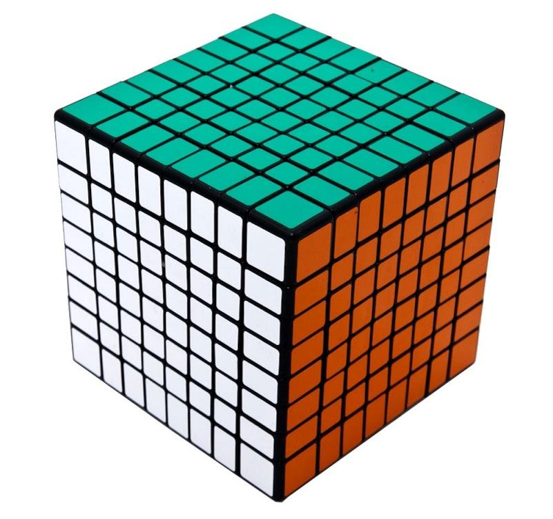 кубик 8х8х8 ShengShou черный пластик